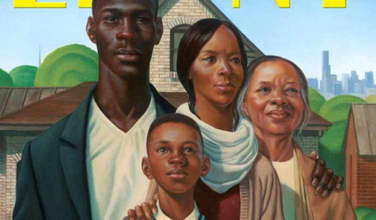 Breaking From The Normal Celebrity Cover Ebony Magazines Febuarary Story Image Is An American Gothic Inspired Illustration Of A Hopeful Black