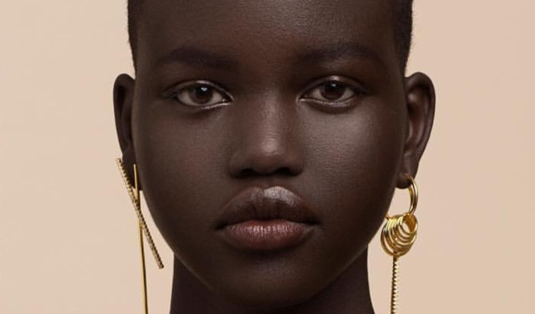 Model Adut Akech Bior radiates elegance in new editorial for Ryan Storer Jewelry by photographer Jay Exposito - AFROPUNK